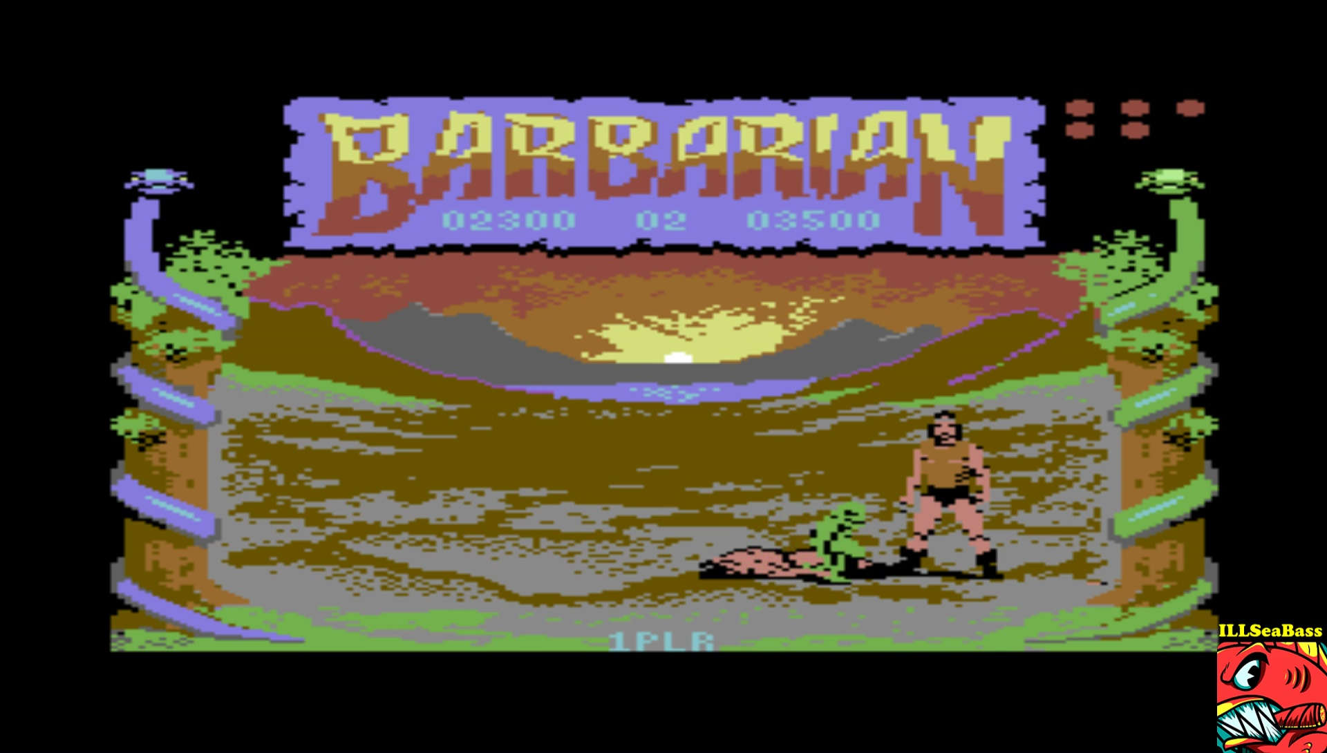 ILLSeaBass: Barbarian: The Ultimate Warrior (Commodore 64 Emulated) 2,300 points on 2017-03-17 21:37:31