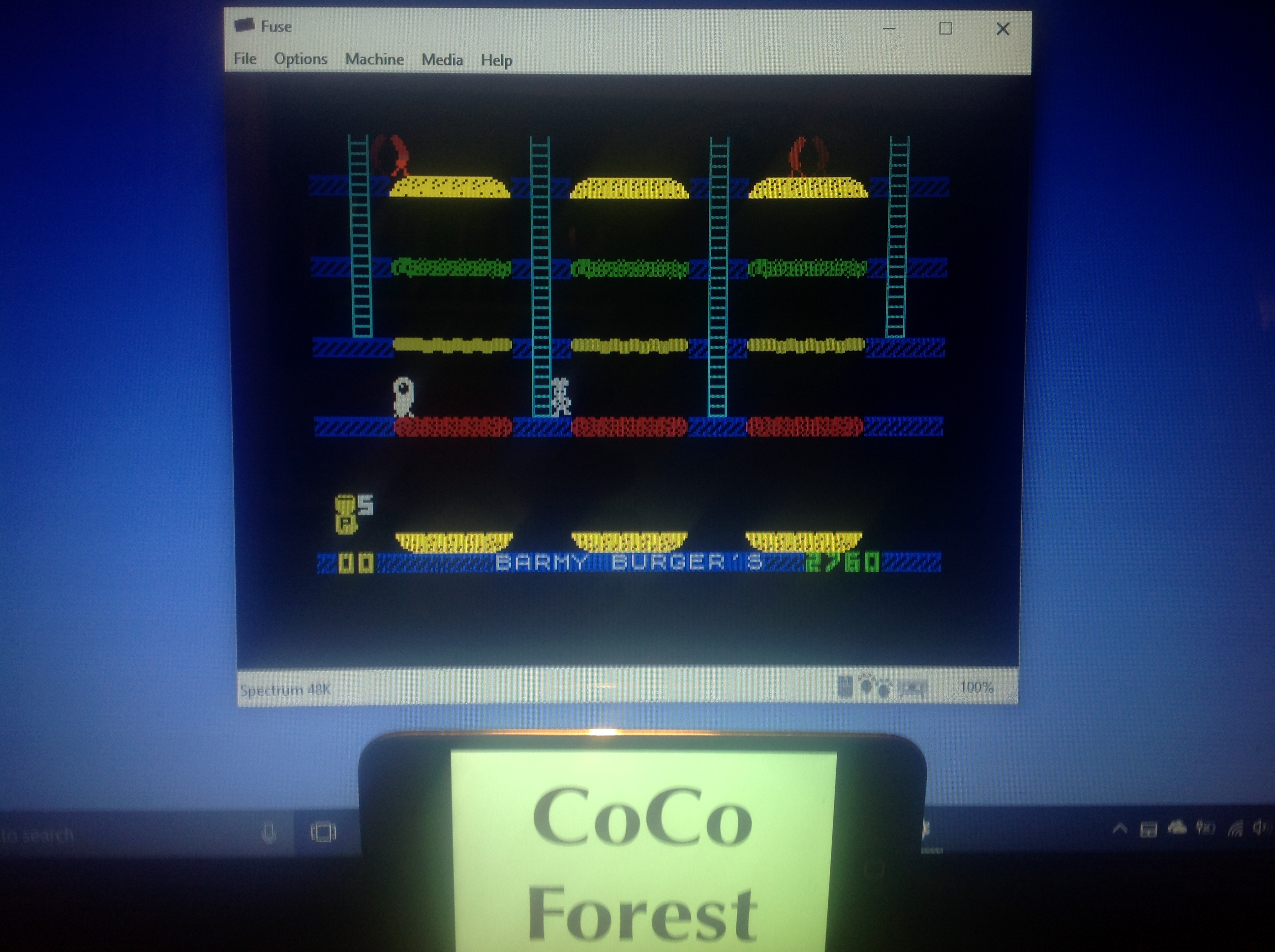 CoCoForest: Barmy Burgers (ZX Spectrum Emulated) 2,760 points on 2018-01-15 13:45:21