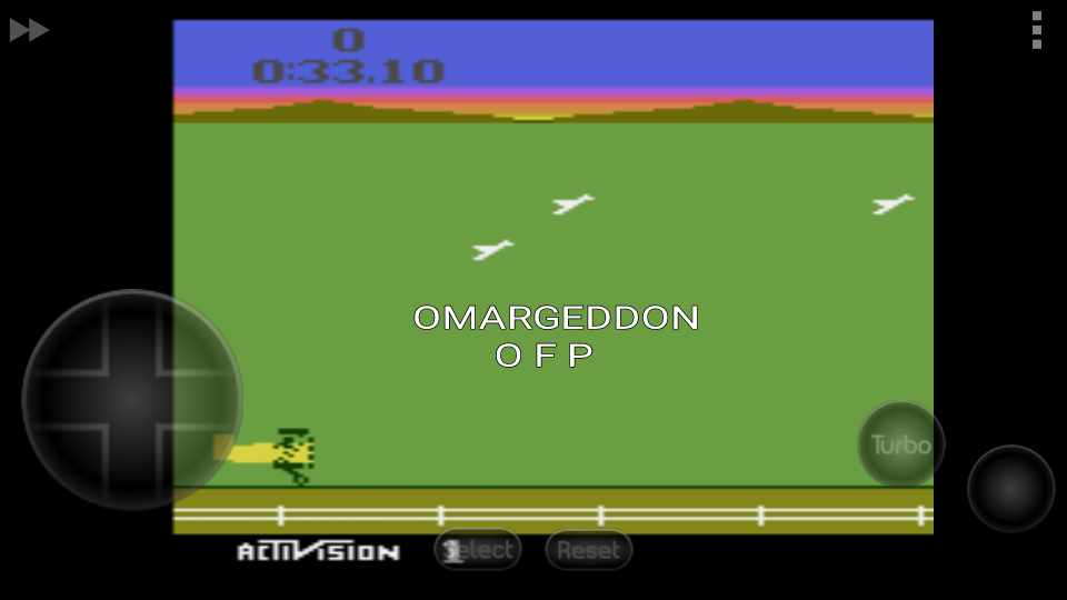 omargeddon: Barnstorming (Atari 2600 Emulated Novice/B Mode) 0:00:33.1 points on 2016-10-04 00:27:31