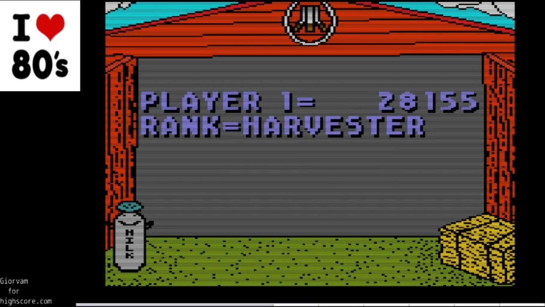 Giorvam: Barnyard Blaster (Atari 7800 Emulated) 28,155 points on 2019-12-30 12:36:38