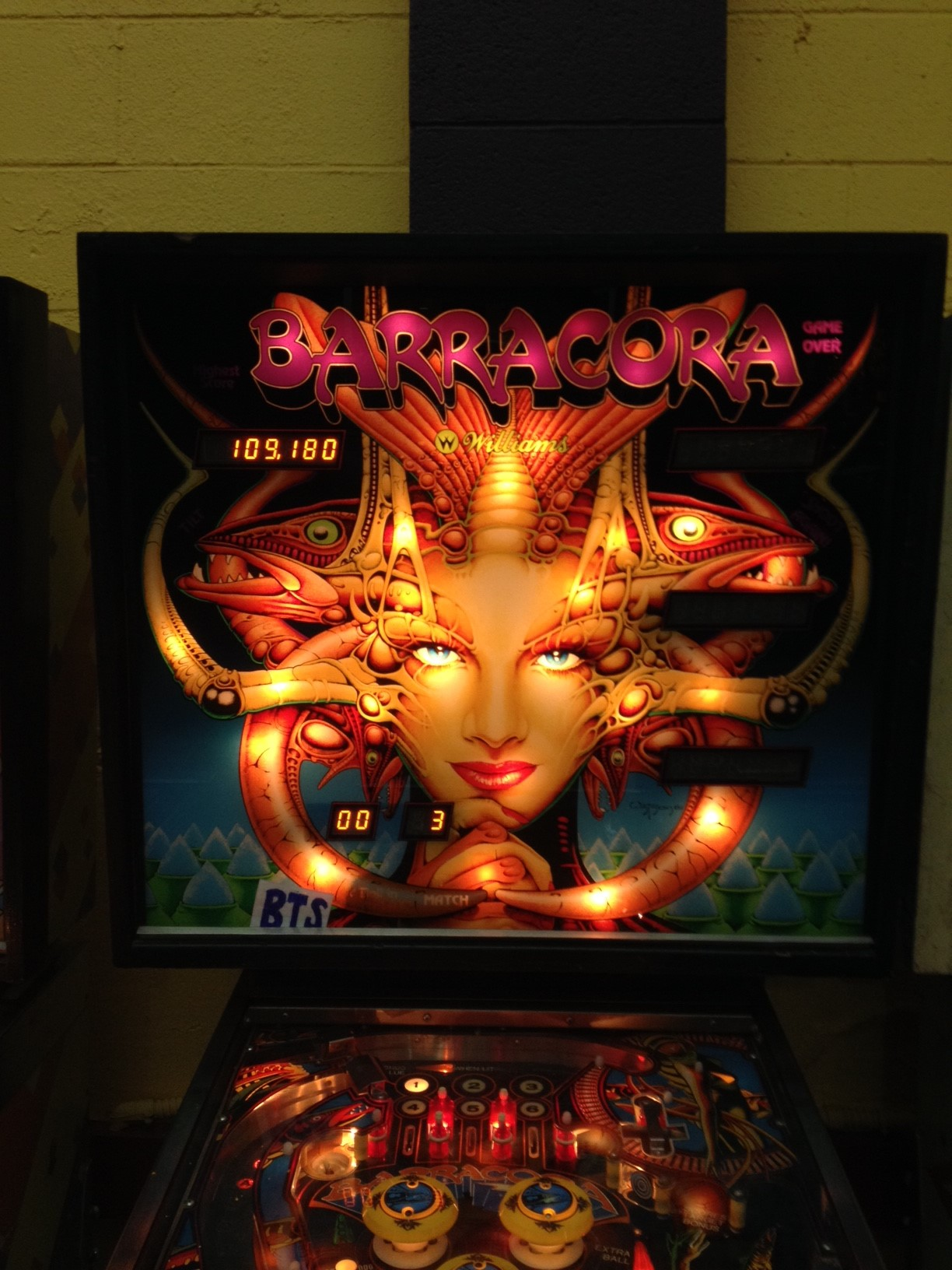 bensweeneyonbass: Barracora (Pinball: 3 Balls) 109,180 points on 2016-03-21 09:03:29