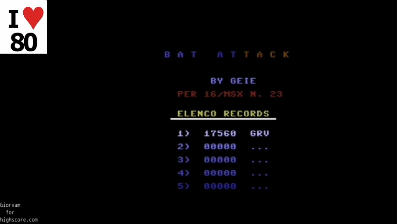 Giorvam: Bat Attack (Commodore 16/Plus4 Emulated) 17,560 points on 2019-12-17 11:51:40