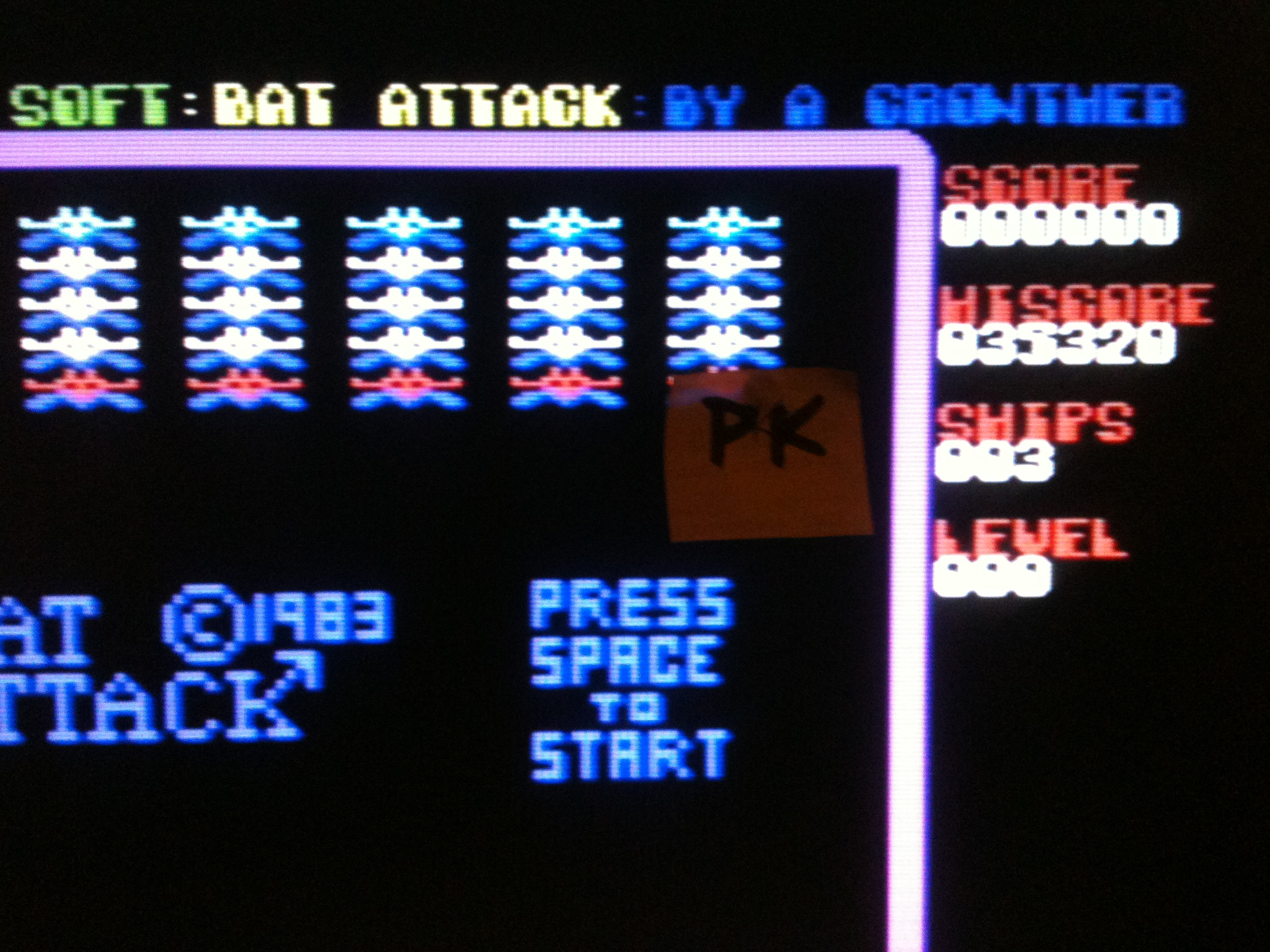 kernzy: Bat Attack (Commodore 64) 35,320 points on 2015-12-12 09:27:26