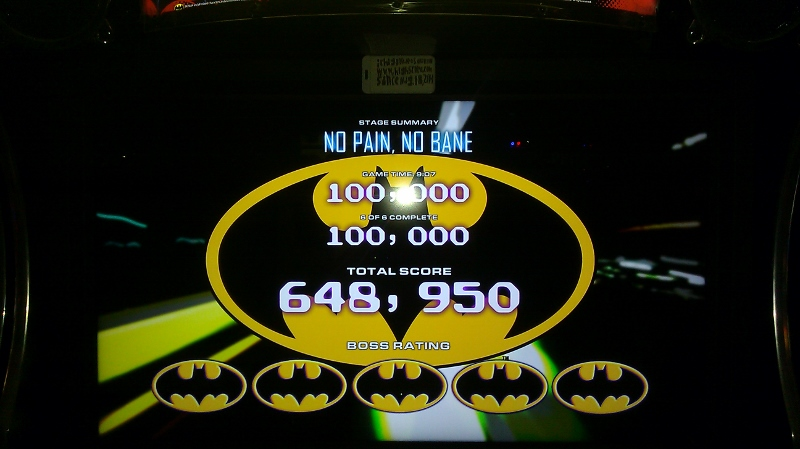 ichigokurosaki1991: Batman [Raw Thrills]: Bane: No Pain, No Bane [Easy] (Arcade) 648,950 points on 2016-05-30 02:50:23