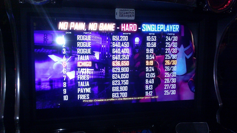 ichigokurosaki1991: Batman [Raw Thrills]: Bane: No Pain, No Bane [Hard] (Arcade) 636,650 points on 2016-05-30 02:50:49