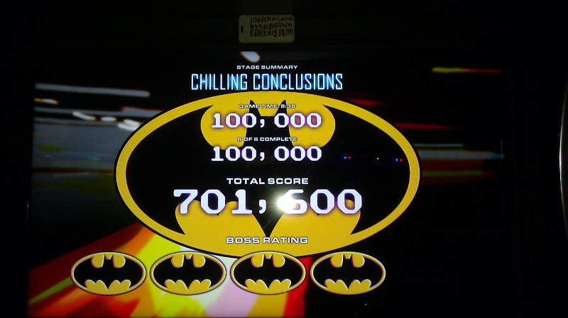 Batman [Raw Thrills]: Mr. Freeze: Chilling Conclusions [Easy] 701,600 points