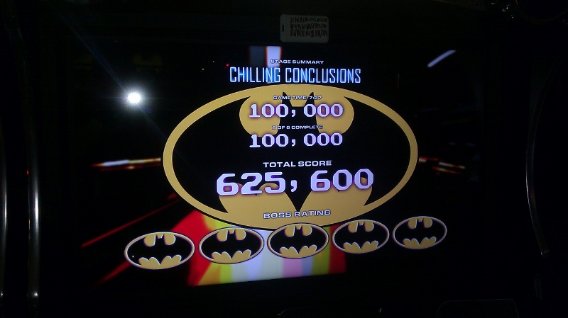 Batman [Raw Thrills]: Mr. Freeze: Chilling Conclusions [Hard] 625,600 points