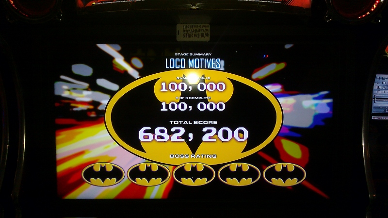Batman [Raw Thrills]: The Joker: Loco Motives [Easy] 682,200 points
