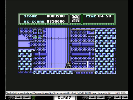 S.BAZ: Batman: The Movie (Commodore 64 Emulated) 3,200 points on 2016-05-26 14:26:46