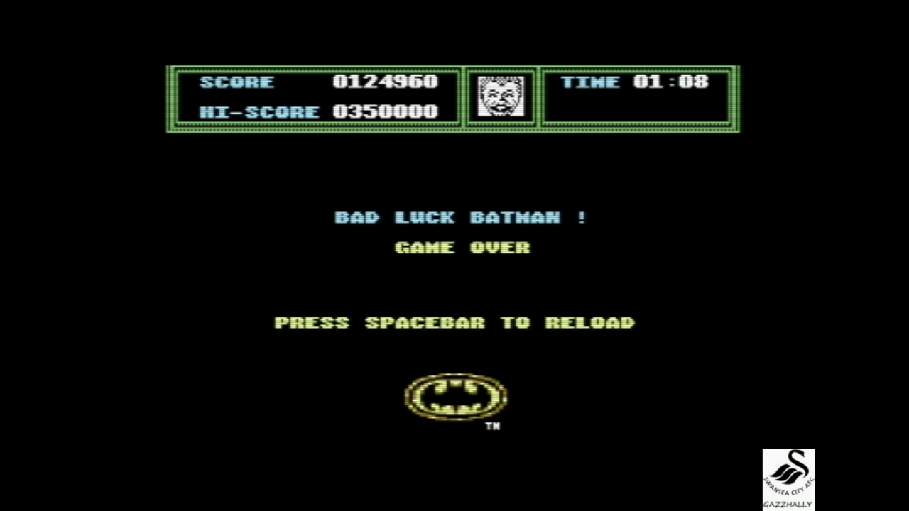 gazzhally: Batman: The Movie (Commodore 64 Emulated) 124,960 points on 2017-07-16 17:05:18