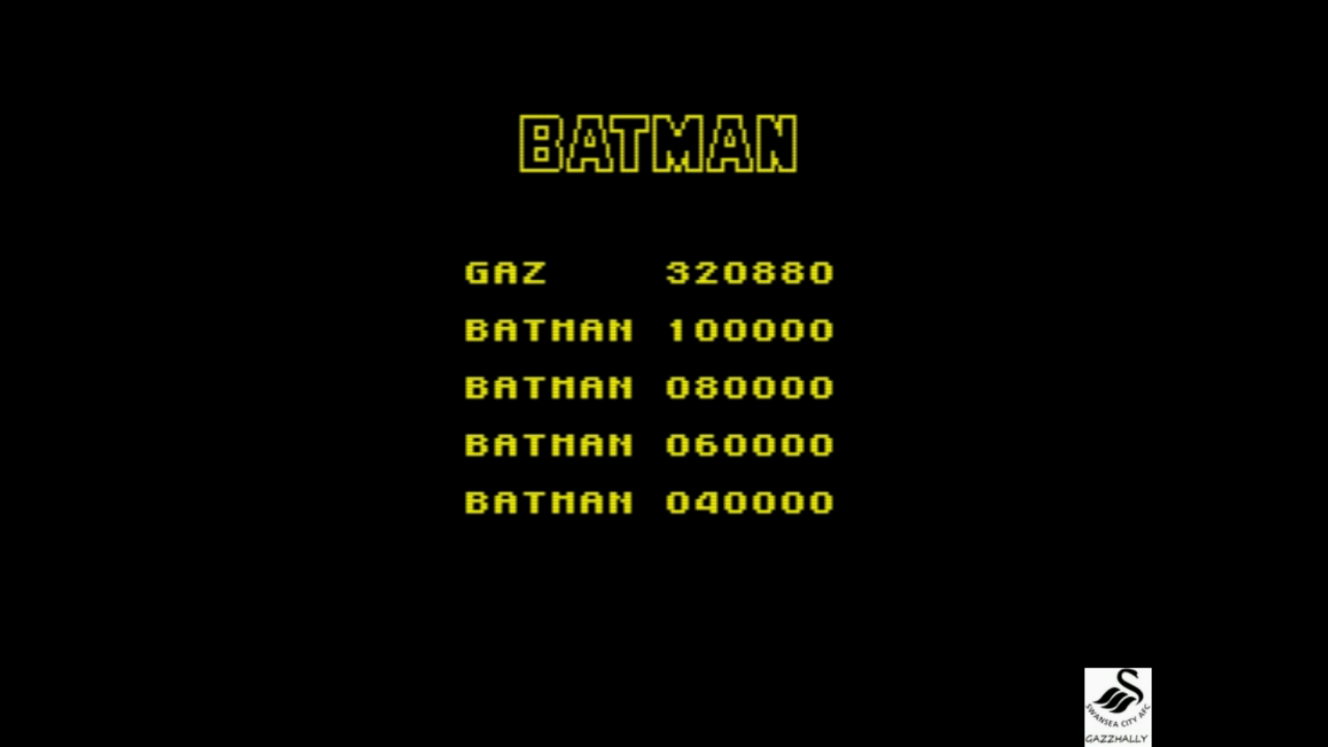 gazzhally: Batman: The Movie (ZX Spectrum Emulated) 320,880 points on 2017-07-16 17:04:39