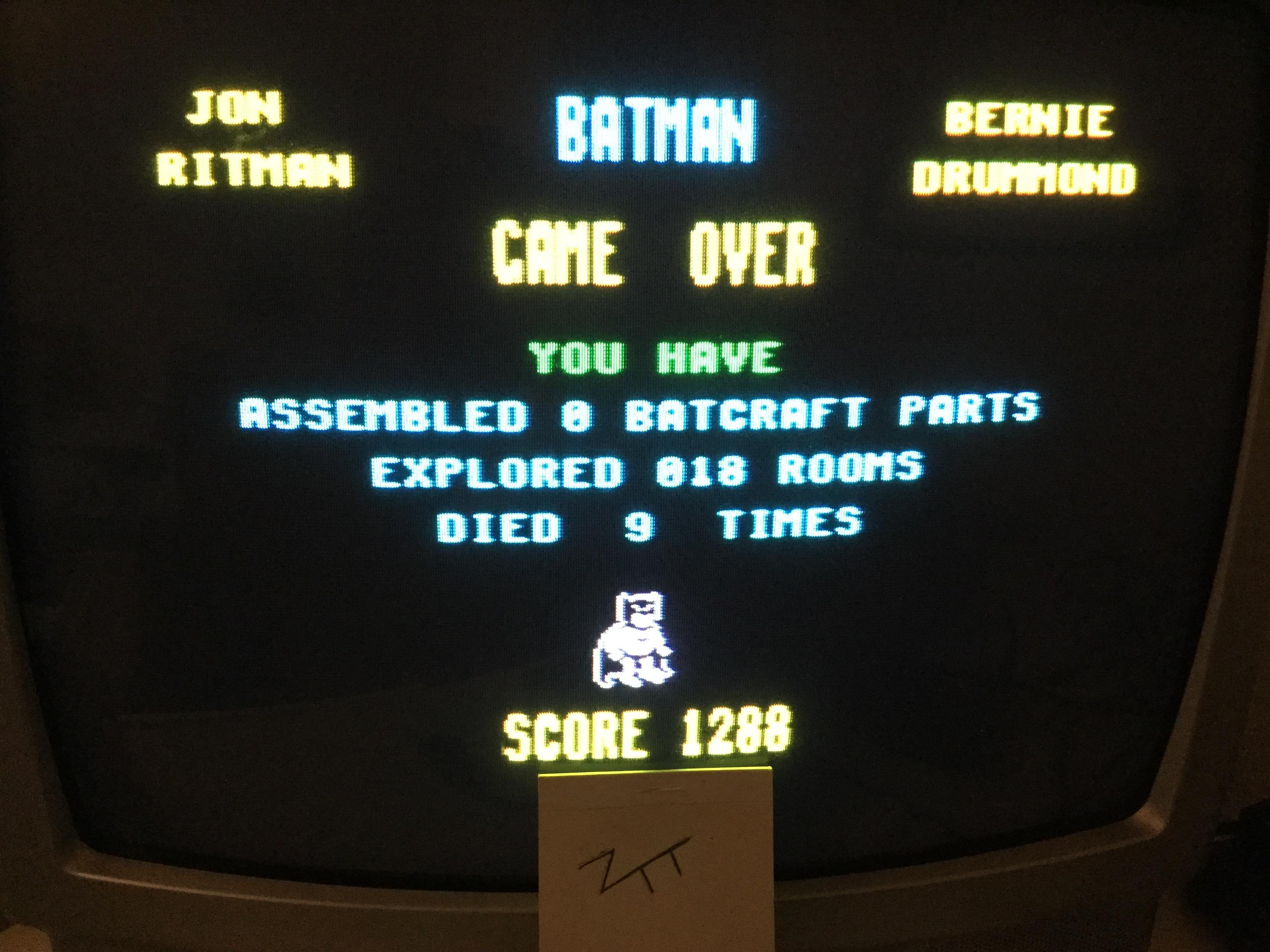 Frankie: Batman (ZX Spectrum) 1,288 points on 2017-12-23 07:12:54