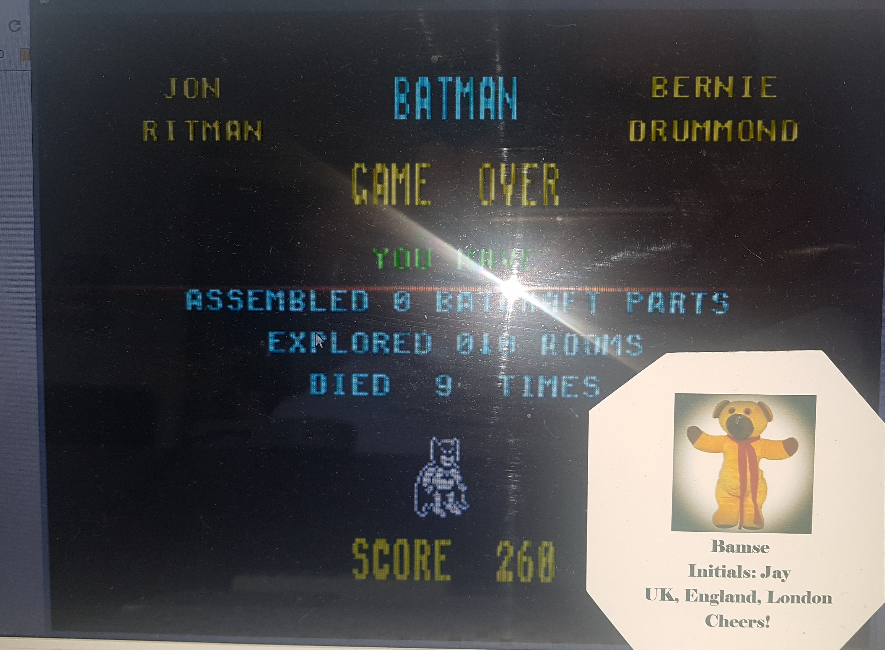 Bamse: Batman (ZX Spectrum Emulated) 260 points on 2019-06-28 11:29:57