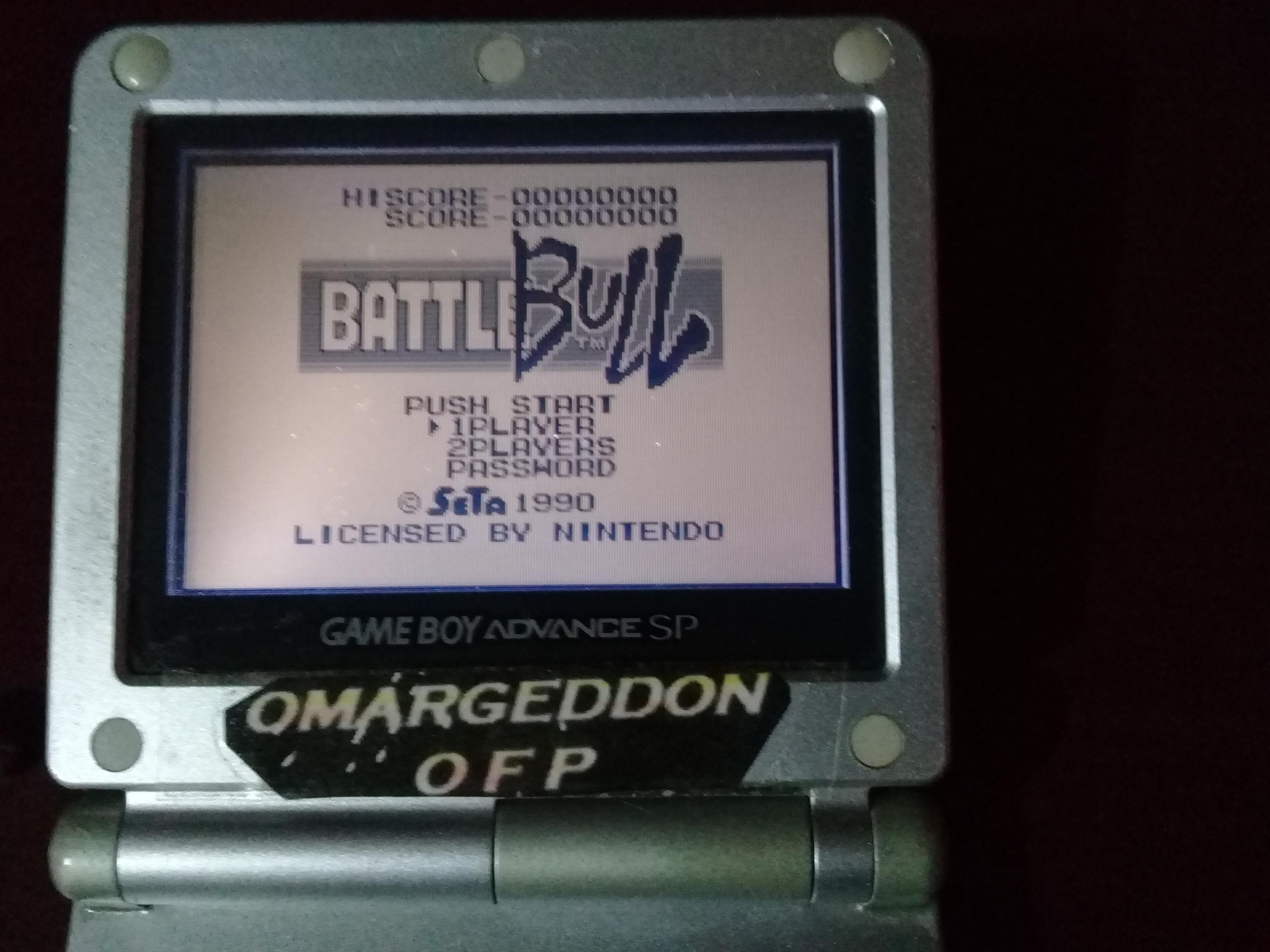 omargeddon: Battle Bull (Game Boy) 19,600 points on 2019-04-16 16:46:35