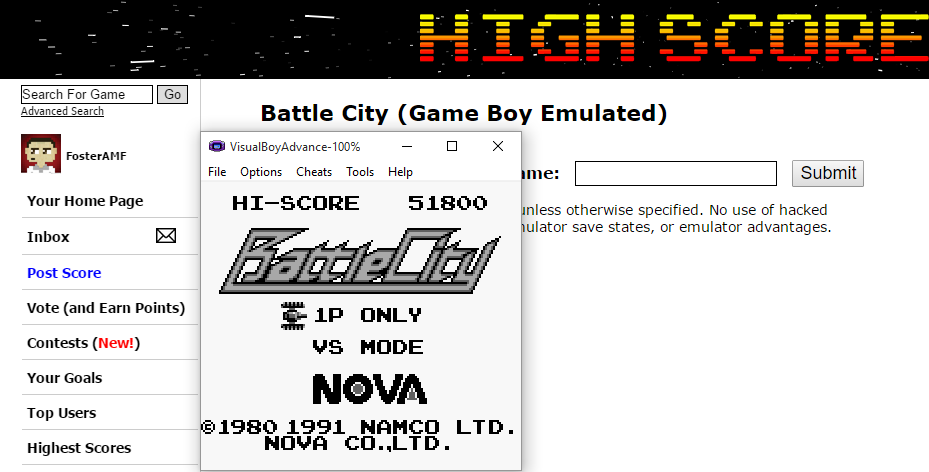 FosterAMF: Battle City (Game Boy Emulated) 51,800 points on 2015-08-09 16:55:54