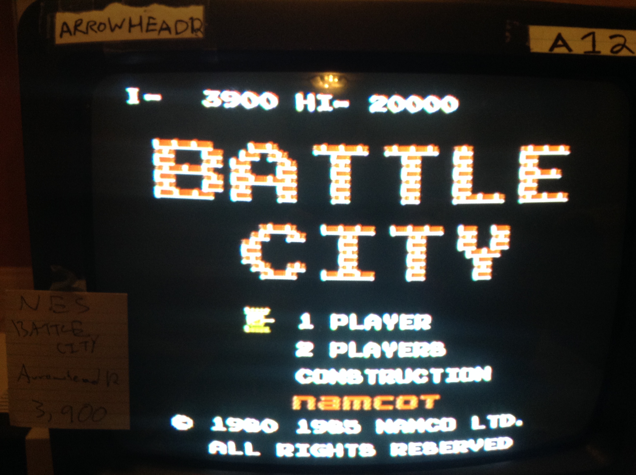 Arrowhead12: Battle City (NES/Famicom) 3,900 points on 2019-02-06 03:11:27