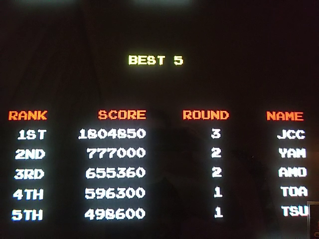 JES: Battle Shark [bshark] (Arcade Emulated / M.A.M.E.) 1,804,850 points on 2019-01-10 22:02:23