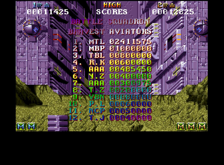 Mantalow: Battle Squadron (Amiga Emulated) 2,411,575 points on 2016-09-13 00:27:23