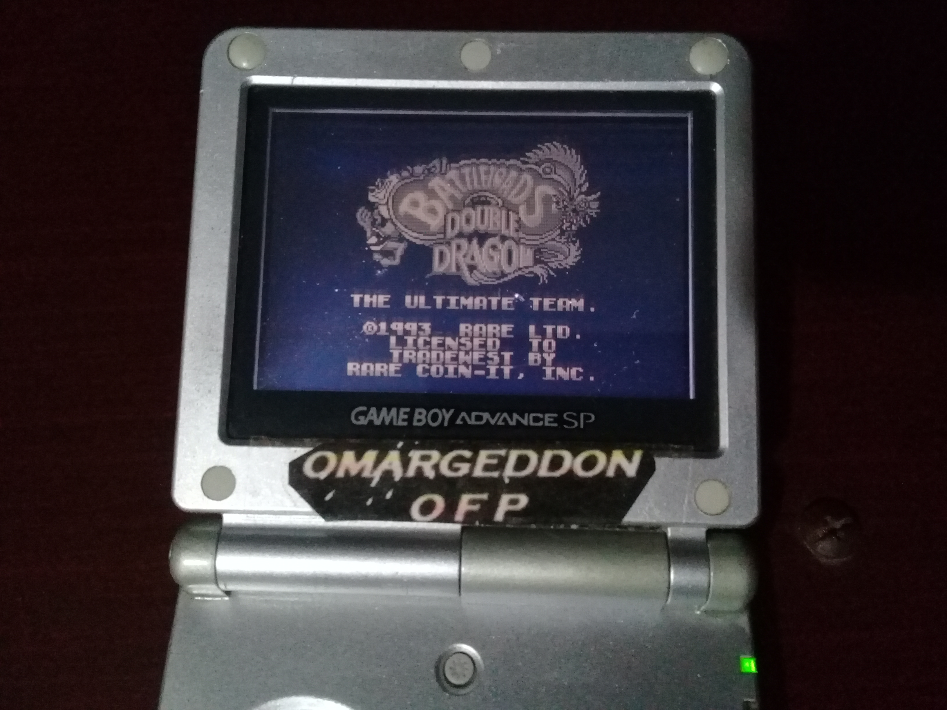 omargeddon: Battletoads And Double Dragon: The Ultimate Team (Game Boy) 436,950 points on 2019-01-17 22:09:34