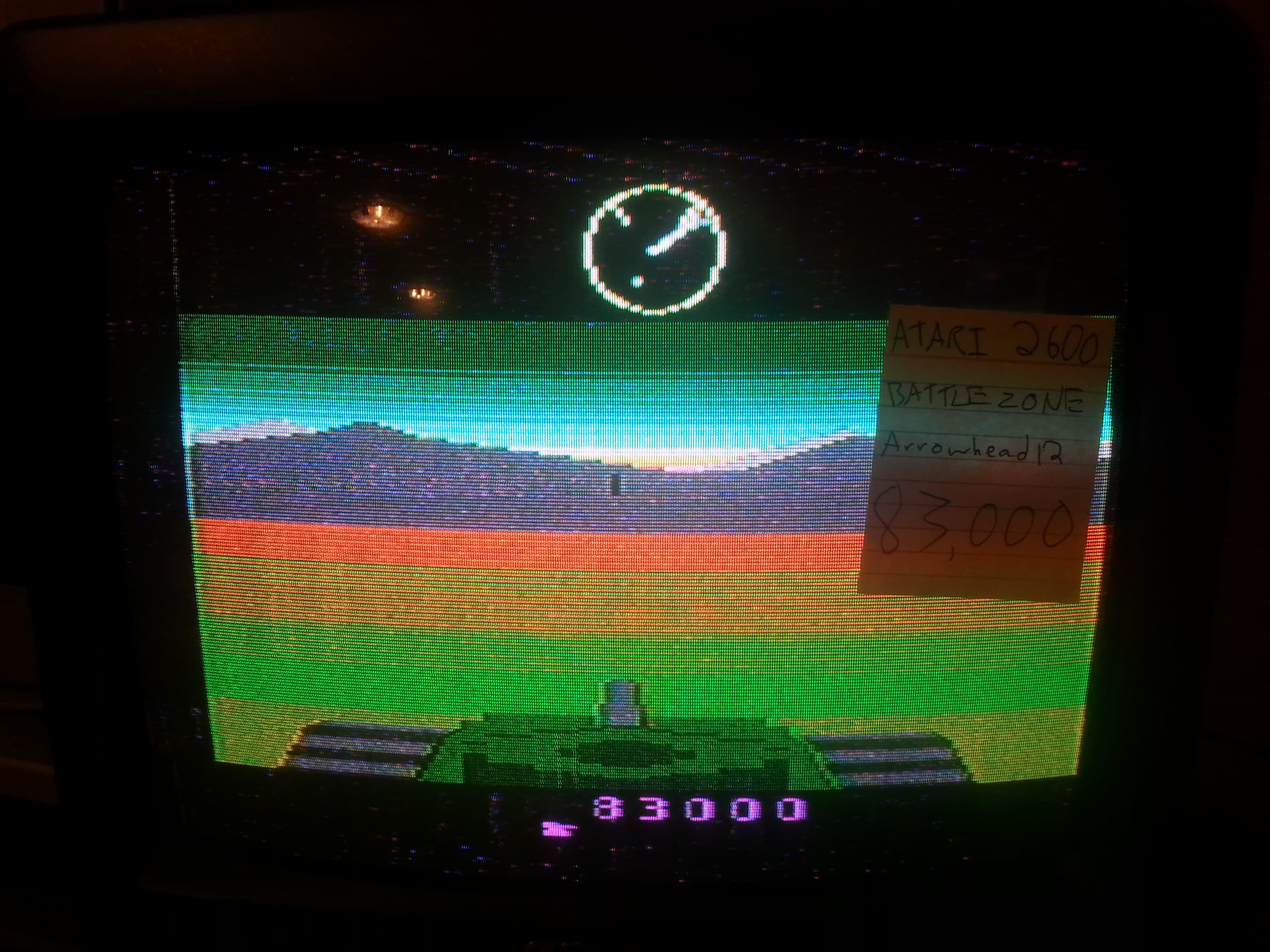 Arrowhead12: Battlezone (Atari 2600) 83,000 points on 2018-10-07 15:20:43