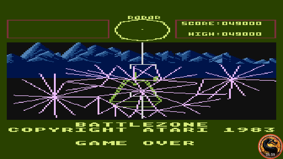 omargeddon: Battlezone (Atari 5200 Emulated) 49,000 points on 2019-09-07 21:46:54