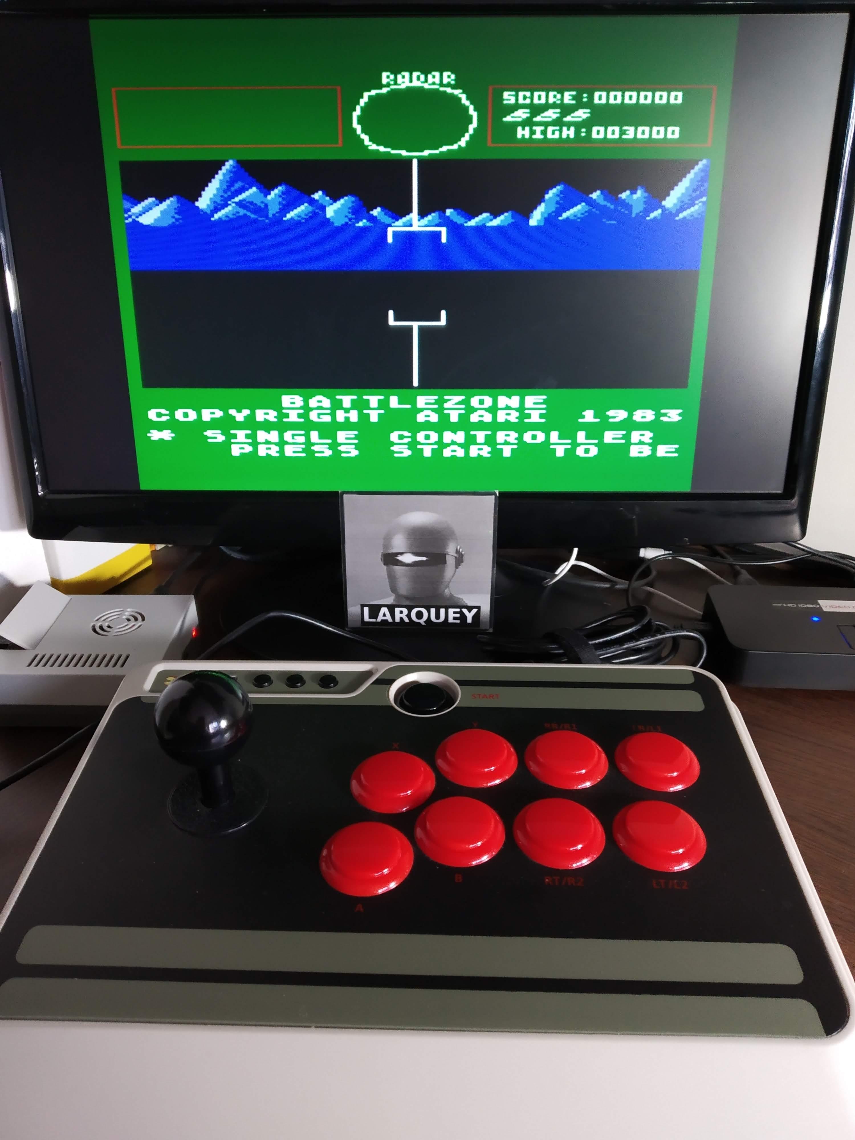 Larquey: Battlezone (Atari 5200 Emulated) 3,000 points on 2019-11-16 09:38:48