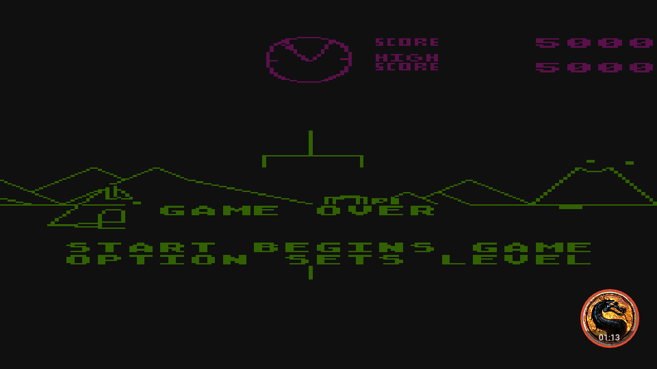 omargeddon: Battlezone [Level 2] (Atari 400/800/XL/XE Emulated) 5,000 points on 2019-11-28 13:52:15
