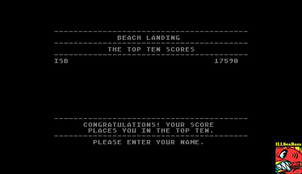 Beach Landing 17,590 points