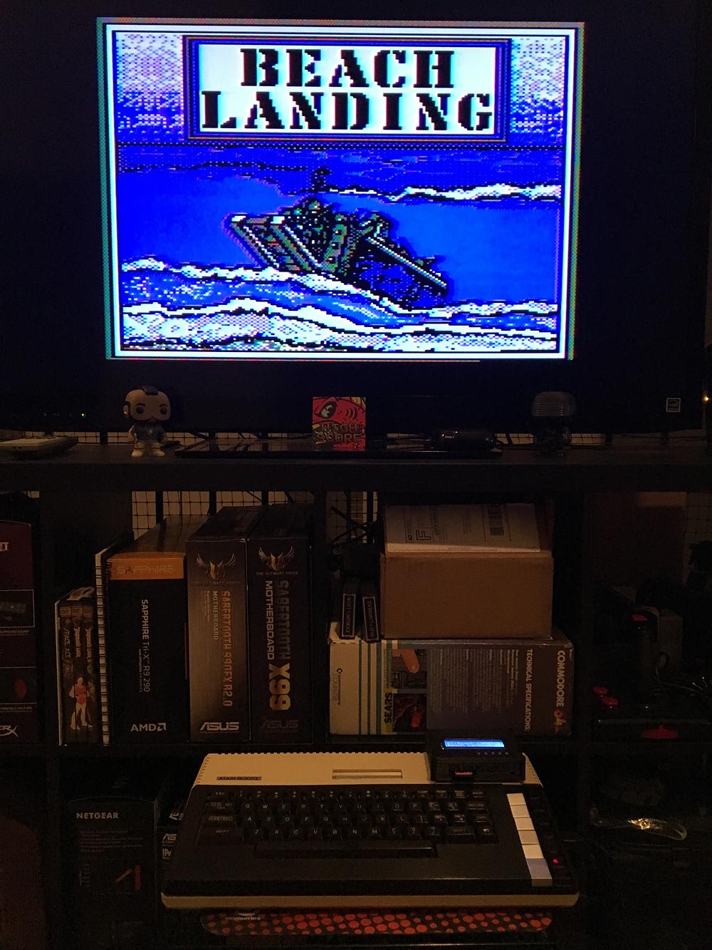 ILLSeaBass: Beach Landing (Atari 400/800/XL/XE) 34,480 points on 2017-05-06 01:32:15