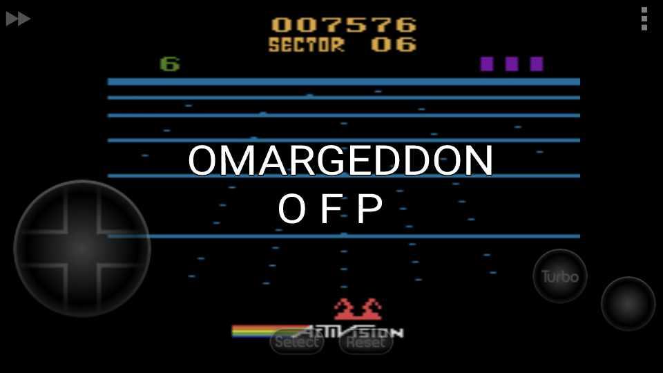 omargeddon: Beamrider (Atari 2600 Emulated Novice/B Mode) 7,576 points on 2016-11-18 23:54:13
