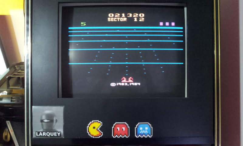 Larquey: Beamrider (Atari 2600 Emulated Novice/B Mode) 21,320 points on 2018-08-16 12:39:30