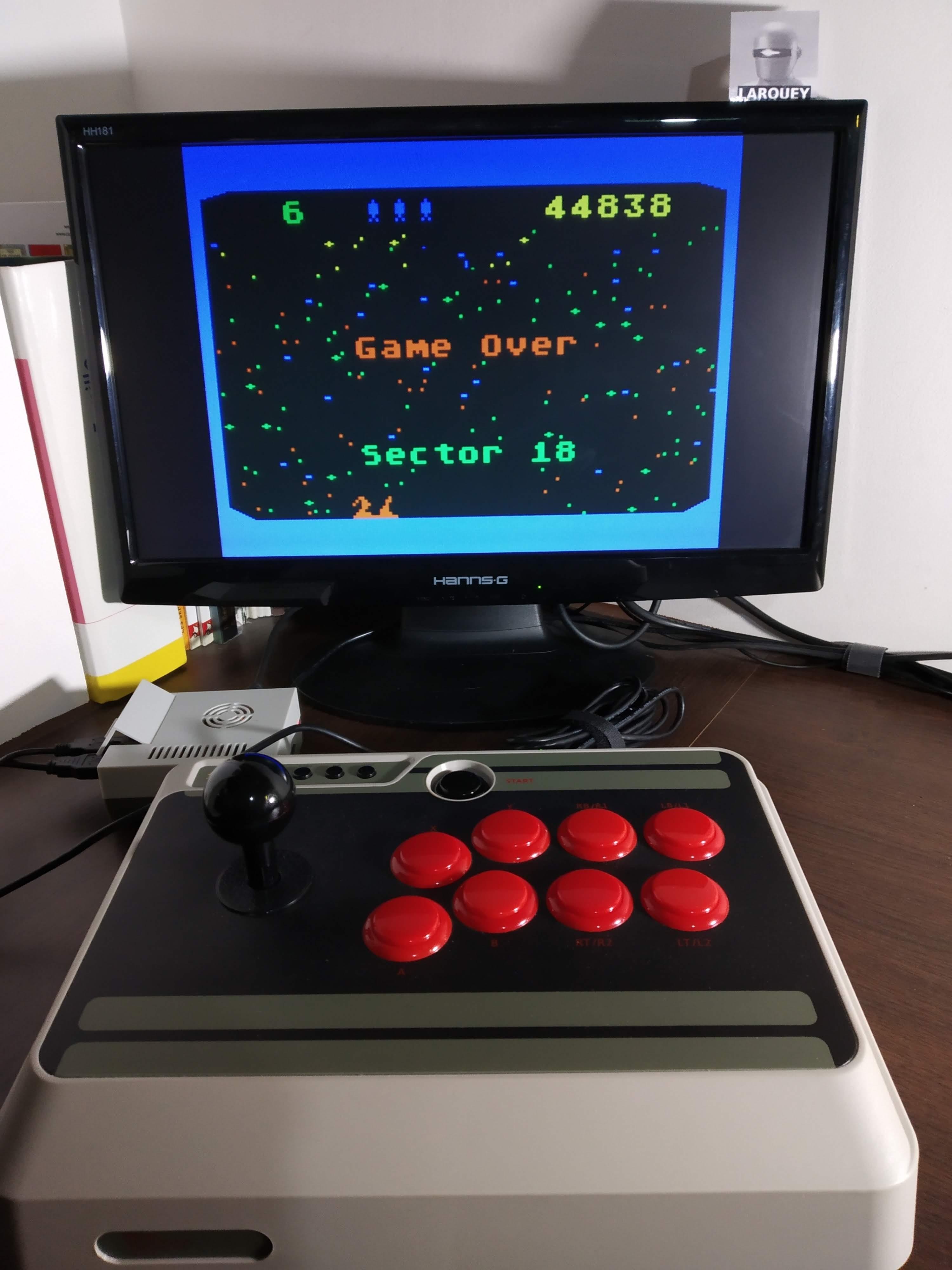 Larquey: Beamrider (Atari 400/800/XL/XE Emulated) 44,838 points on 2019-12-01 05:14:37