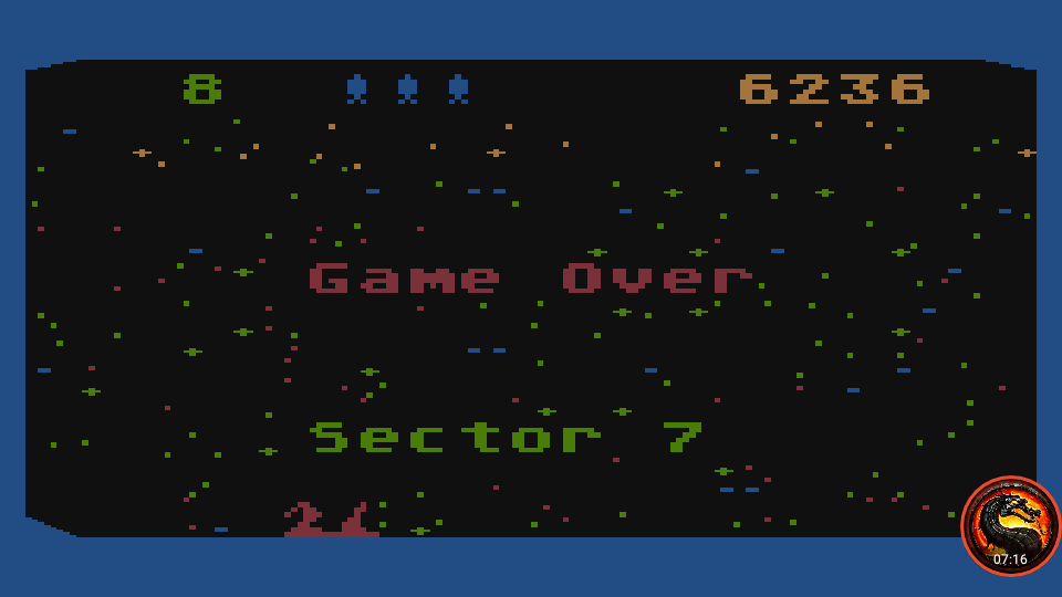 omargeddon: Beamrider (Atari 400/800/XL/XE Emulated) 6,236 points on 2020-01-22 23:49:46