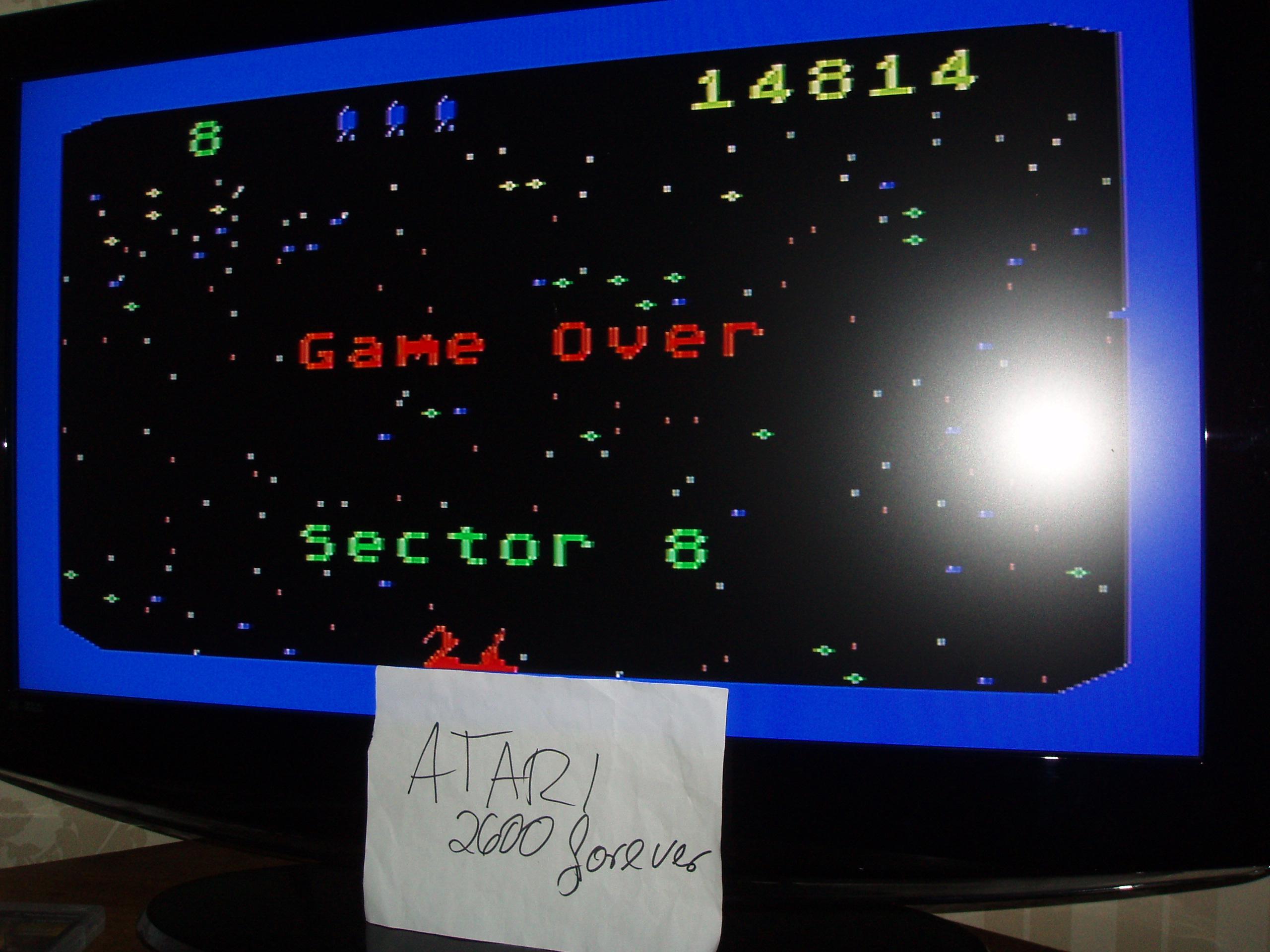 atari2600forever: Beamrider (Atari 5200) 14,814 points on 2019-04-29 03:28:33