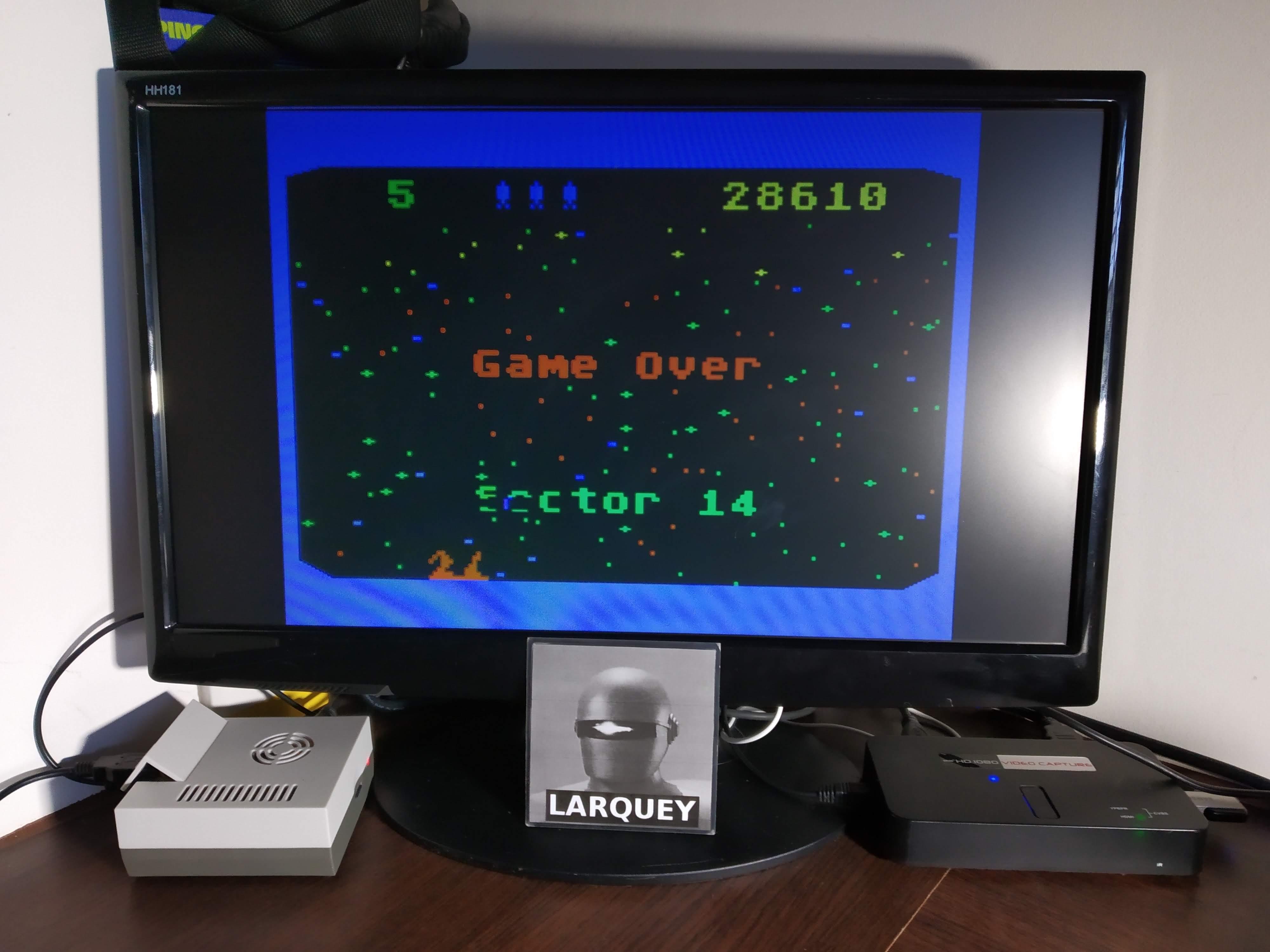 Larquey: Beamrider (Atari 5200 Emulated) 28,610 points on 2019-11-09 12:55:20