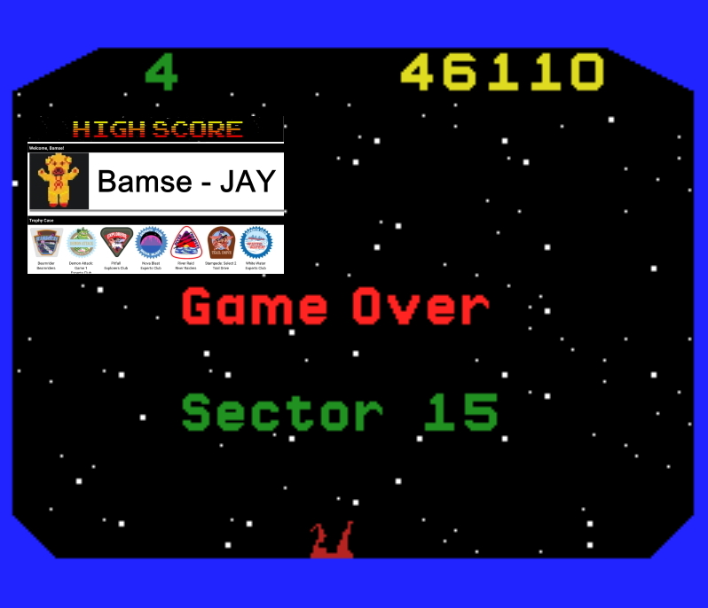 Bamse: Beamrider (MSX Emulated) 46,110 points on 2019-11-28 15:57:41