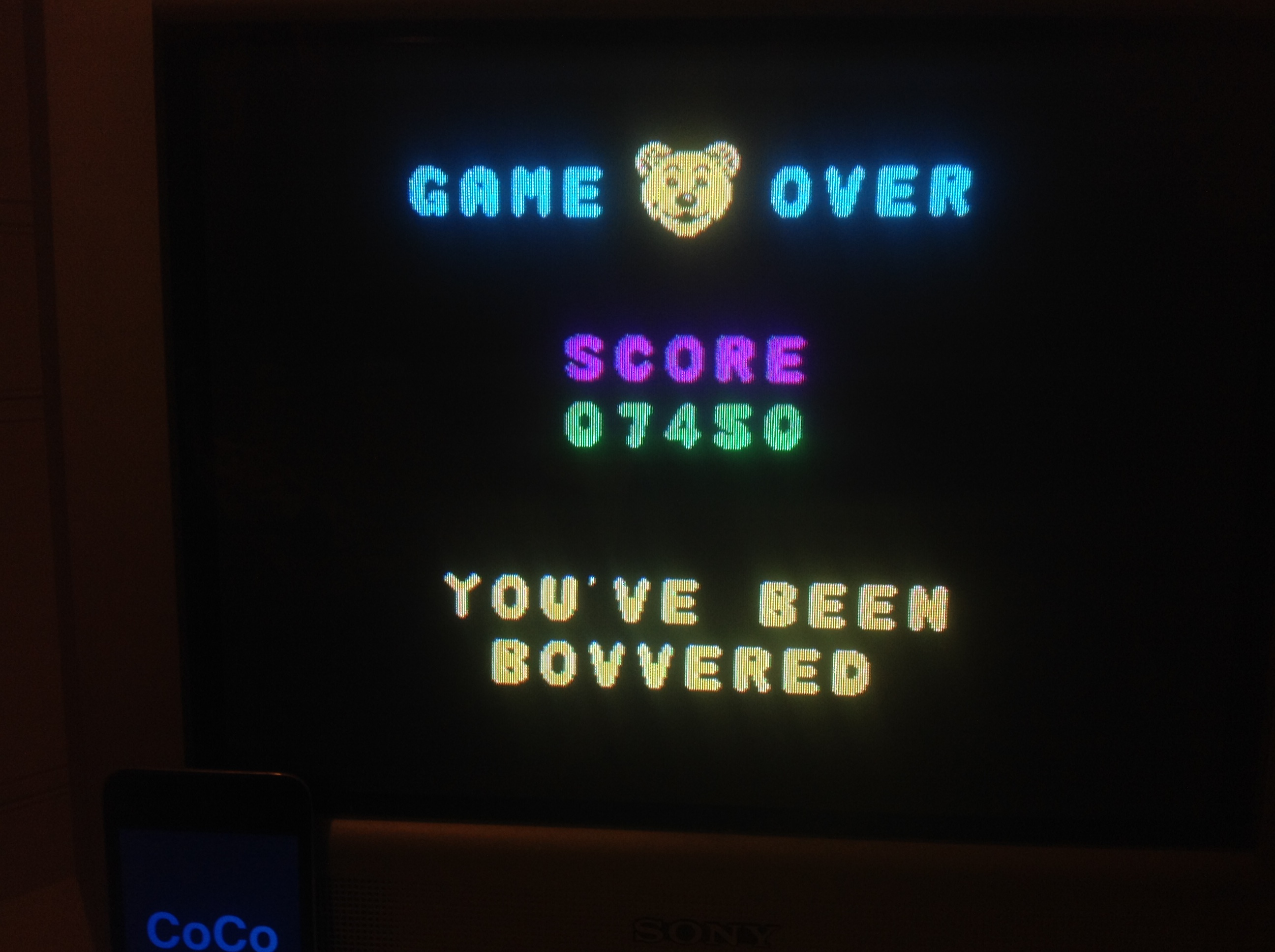 CoCoForest: Bear Bovver [Big Bear Mode] (ZX Spectrum) 7,450 points on 2016-01-22 15:52:17