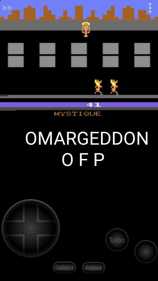 omargeddon: Beat Em and Eat Em (Atari 2600 Emulated Expert/A Mode) 41 points on 2016-11-07 15:39:44
