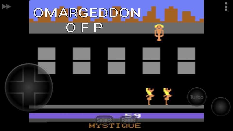 omargeddon: Beat Em and Eat Em (Atari 2600 Emulated Novice/B Mode) 59 points on 2016-11-07 15:45:05