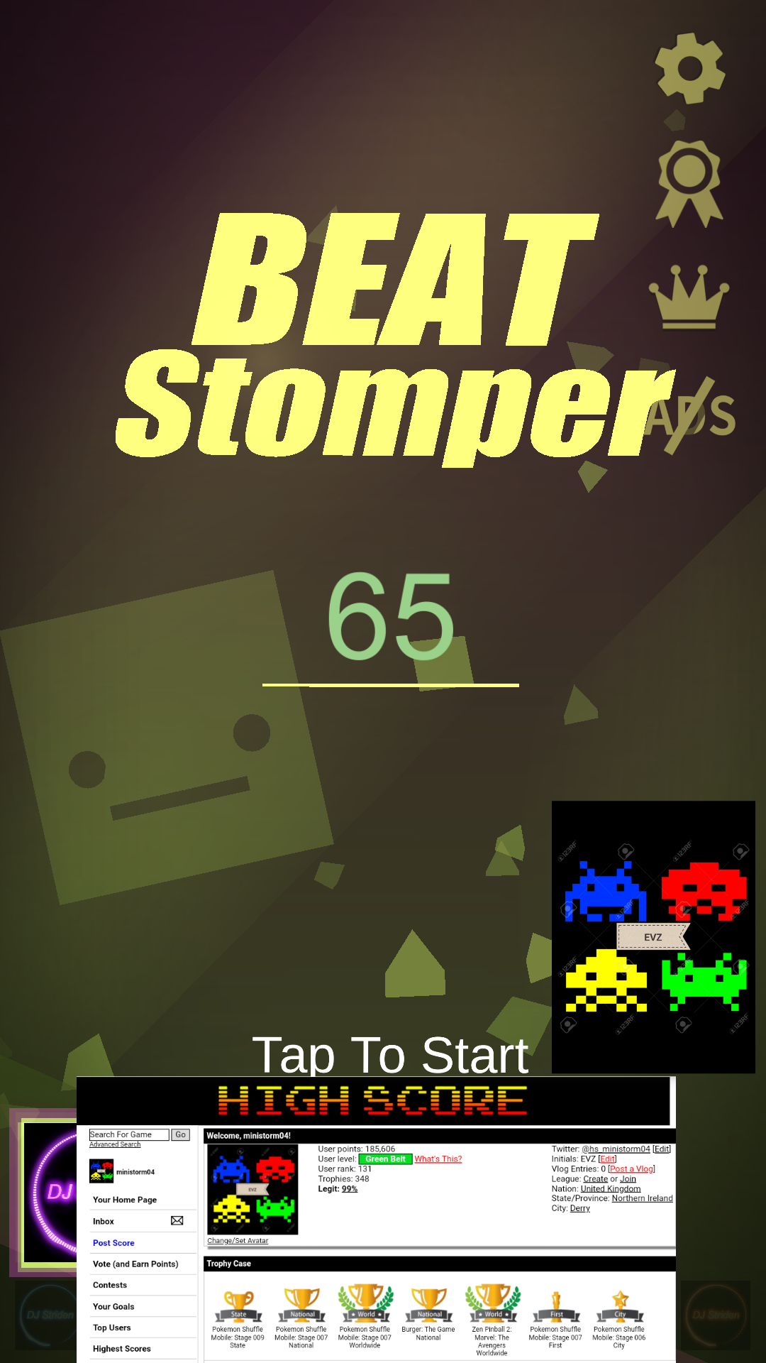 Beat Stomper 65 points