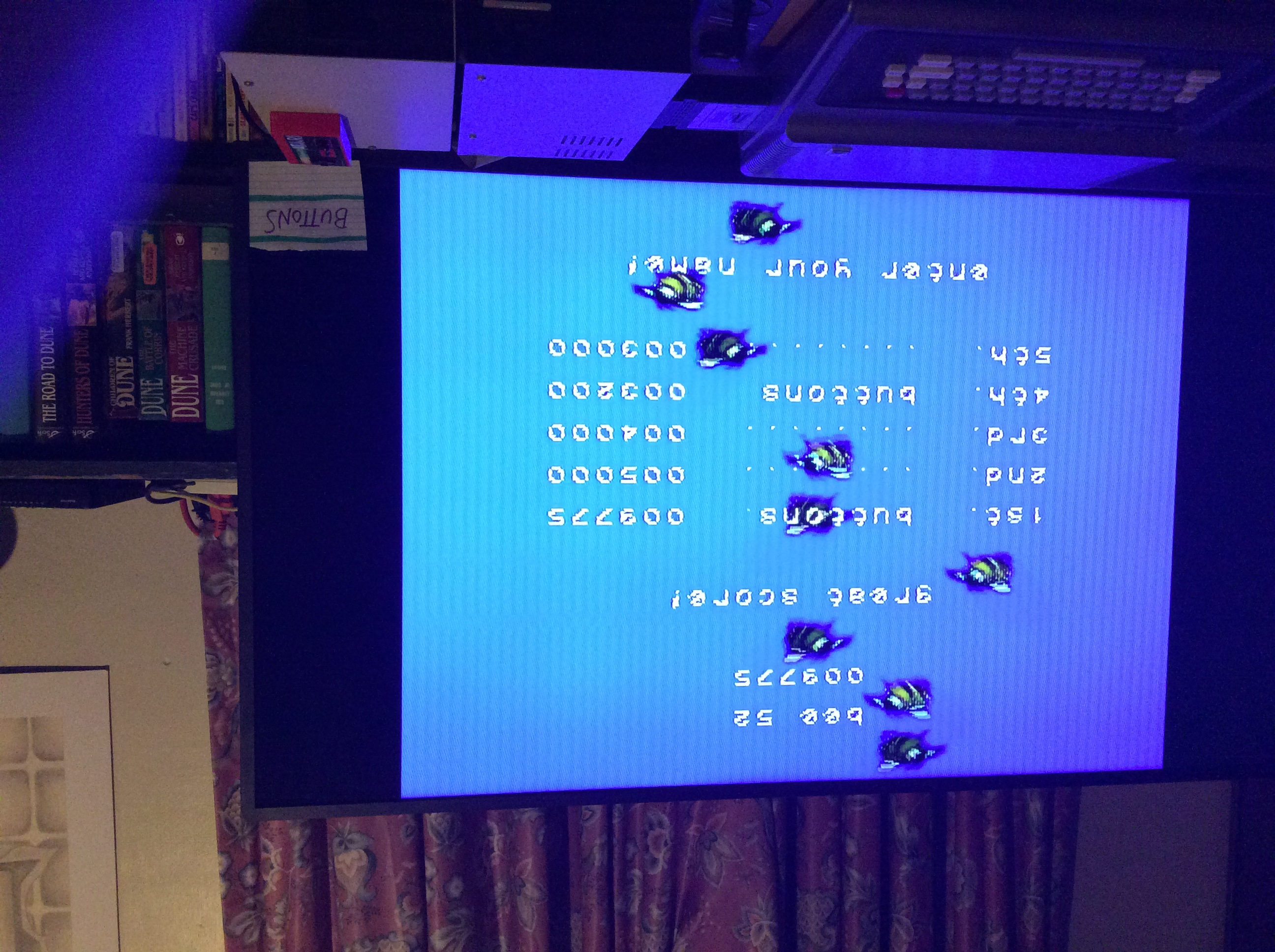 Buttons: Bee 52 (NES/Famicom) 9,775 points on 2019-09-14 23:34:11