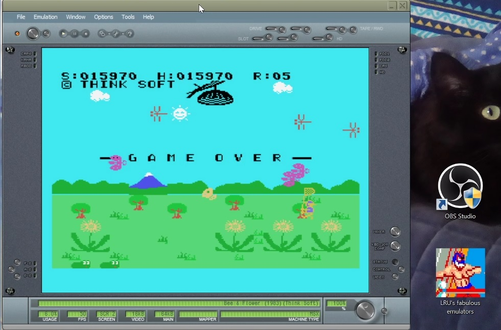 LuigiRuffolo: Bee & Flower (MSX Emulated) 15,970 points on 2020-12-25 04:16:35