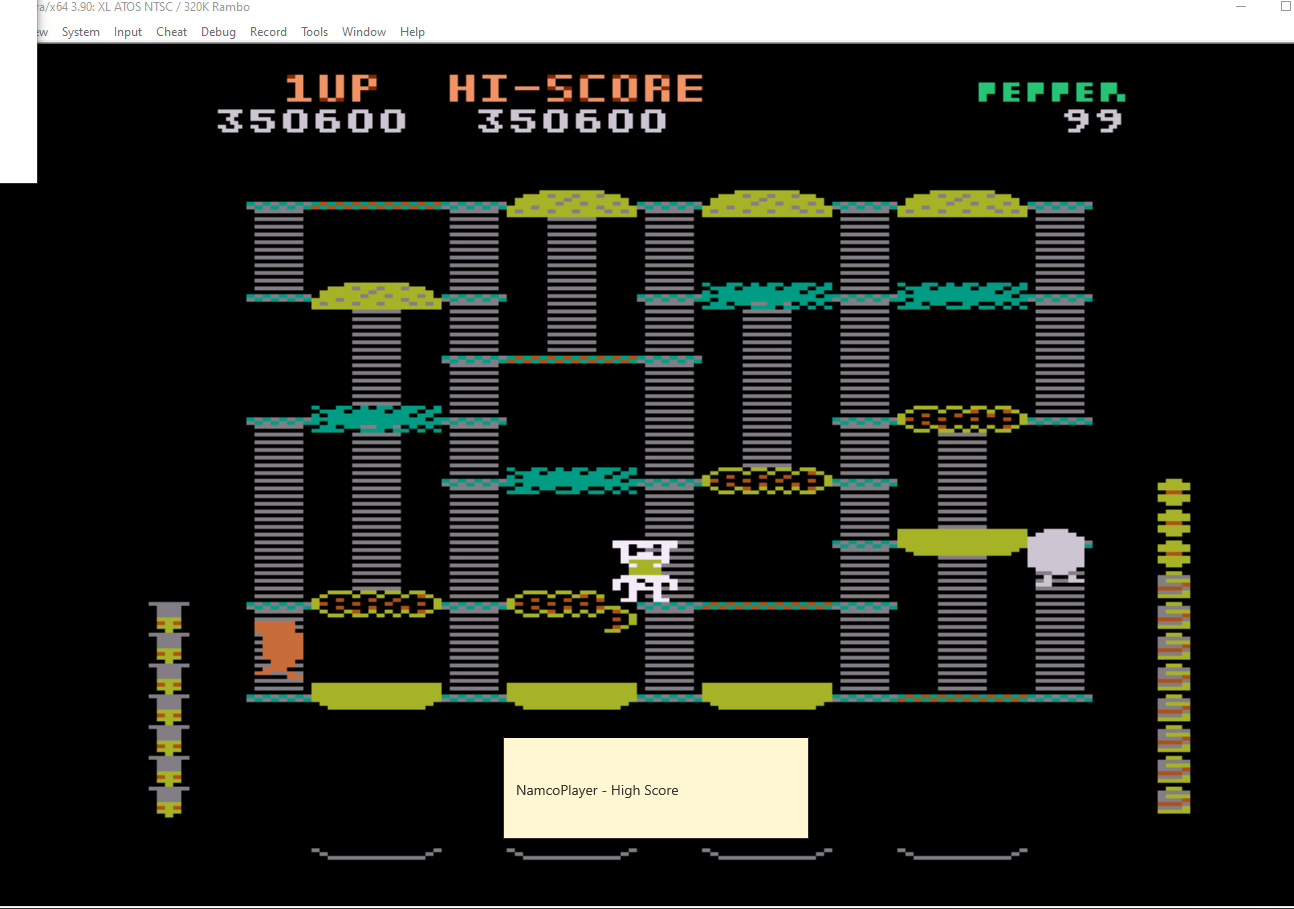 NamcoPlayer: Beef Drop: Child [Demo Version] (Atari 400/800/XL/XE Emulated) 350,600 points on 2020-11-02 15:09:09