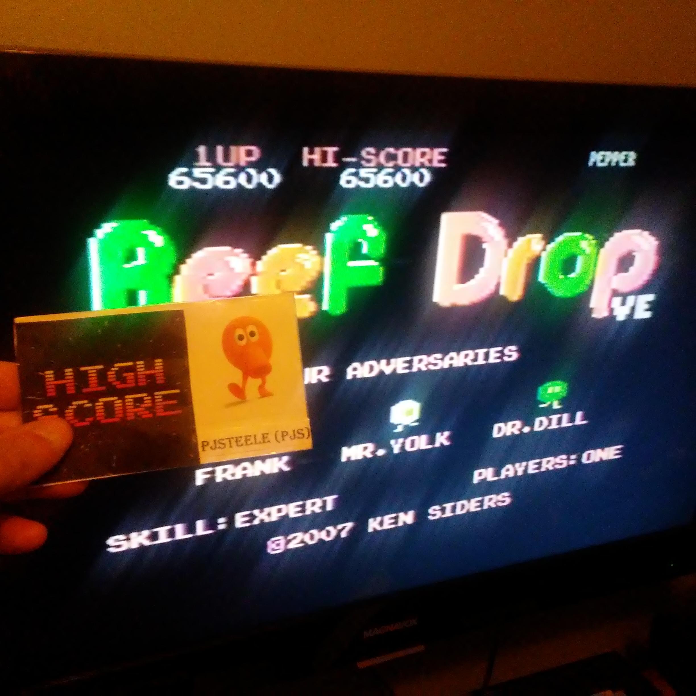 Pjsteele: Beef Drop VE [Expert] (Atari 7800) 65,600 points on 2018-10-21 11:53:09