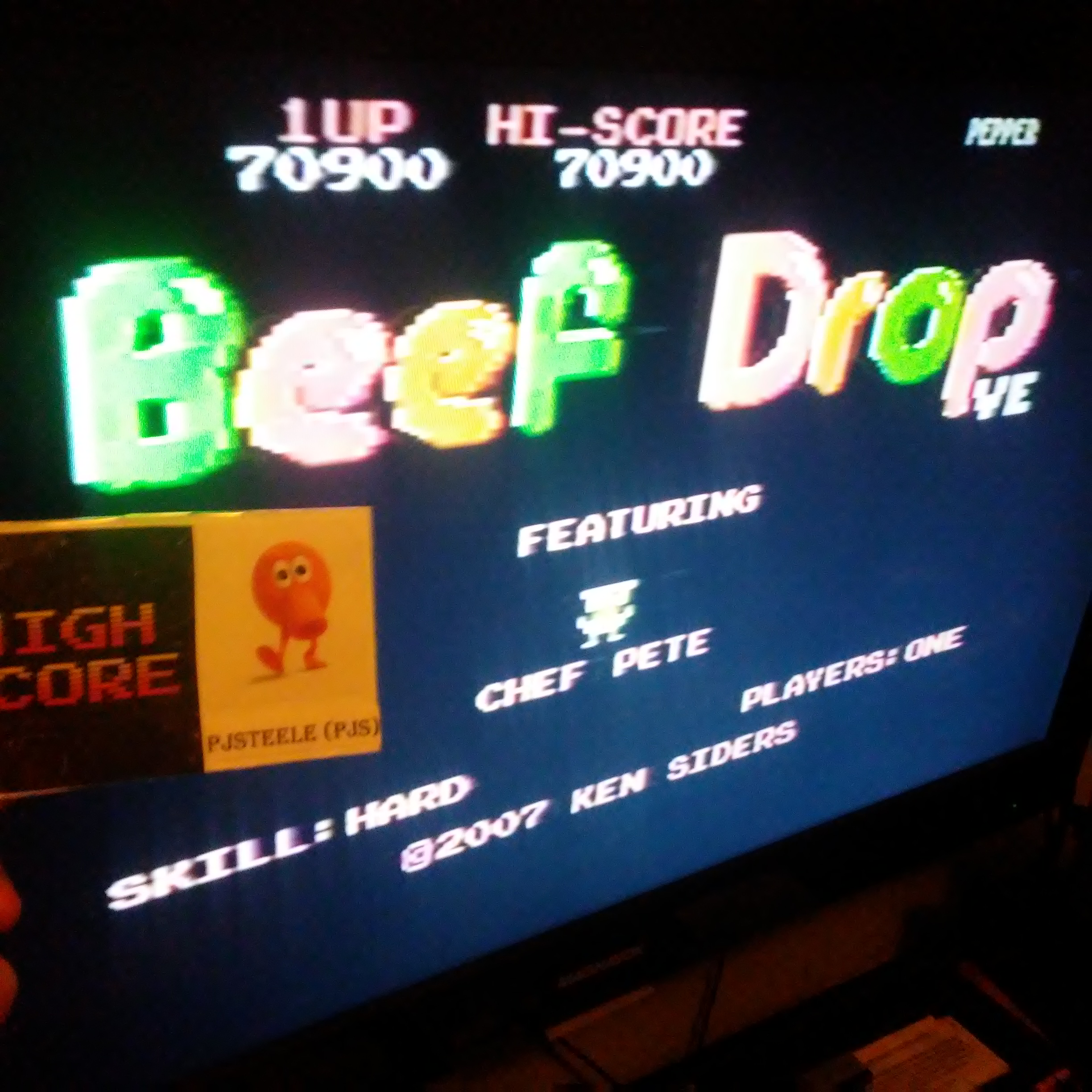 Pjsteele: Beef Drop VE [Hard] (Atari 7800) 70,900 points on 2018-10-23 21:51:39