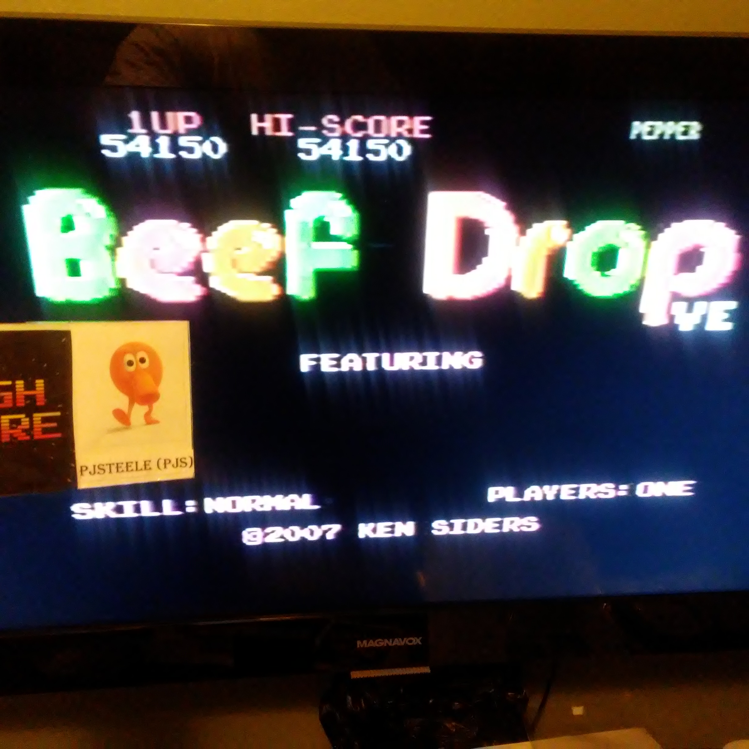 Pjsteele: Beef Drop VE: Normal (Atari 7800) 54,150 points on 2018-07-06 19:45:59