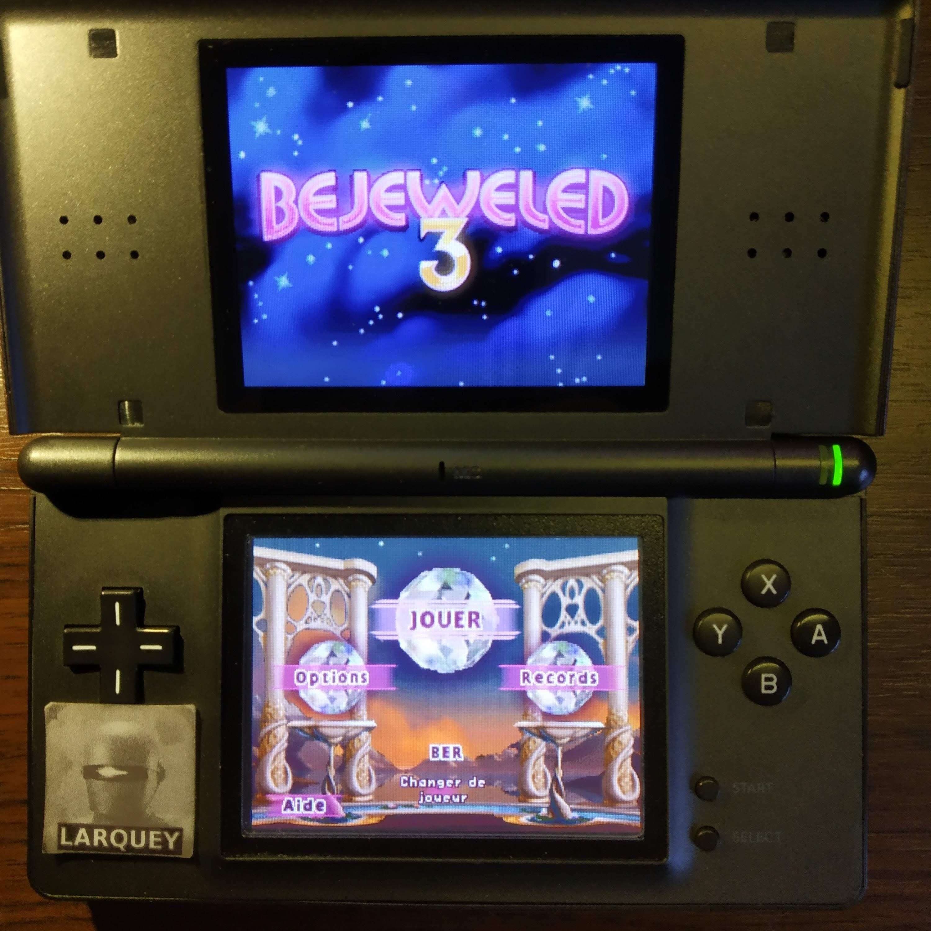 Larquey: Bejeweled 3: Classic [Number of Hypercubes] (Nintendo DS) 0 points on 2020-09-24 12:29:45