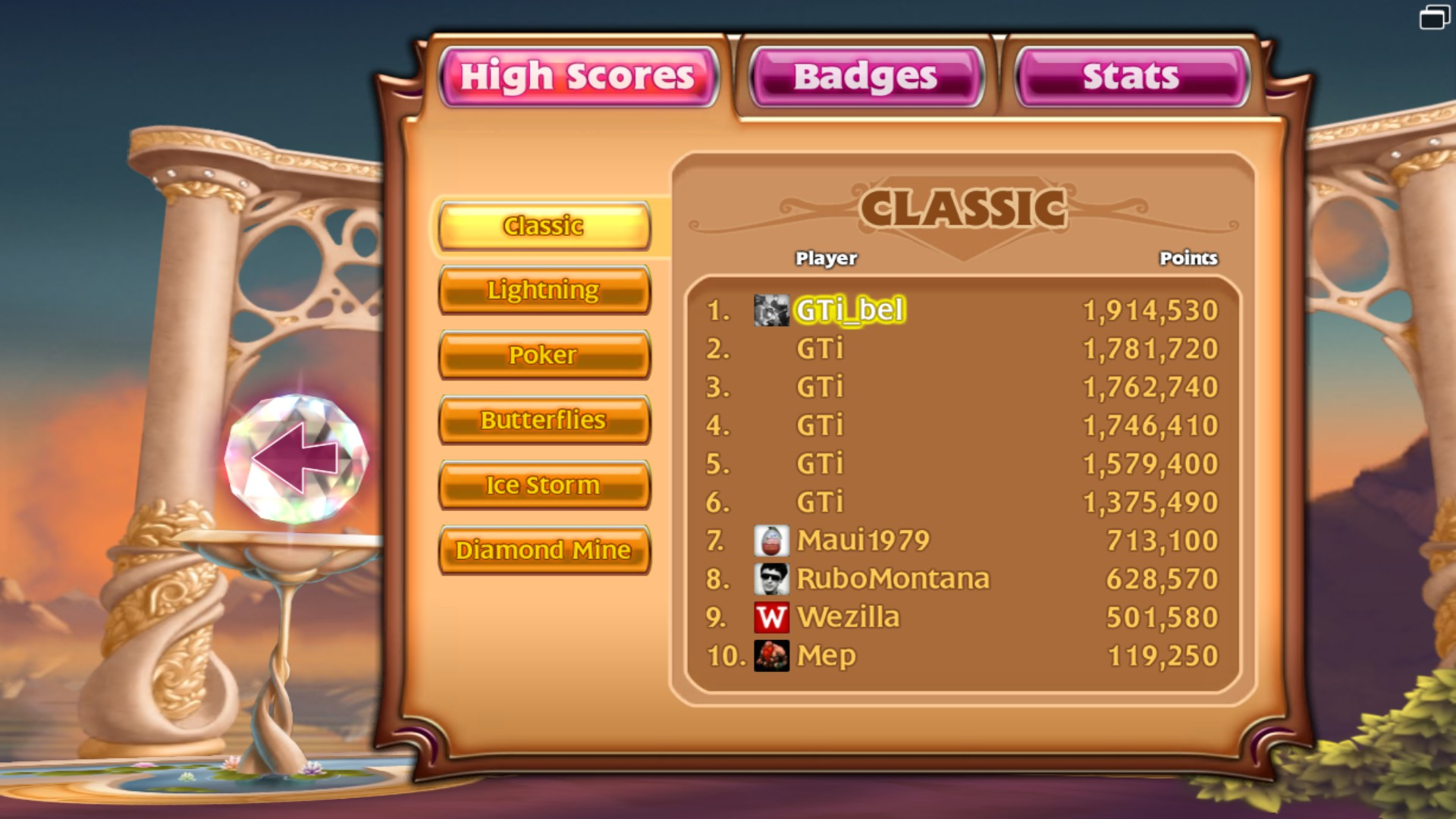 GTibel: Bejeweled 3 [Classic] (PC) 1,914,530 points on 2018-01-26 01:36:42