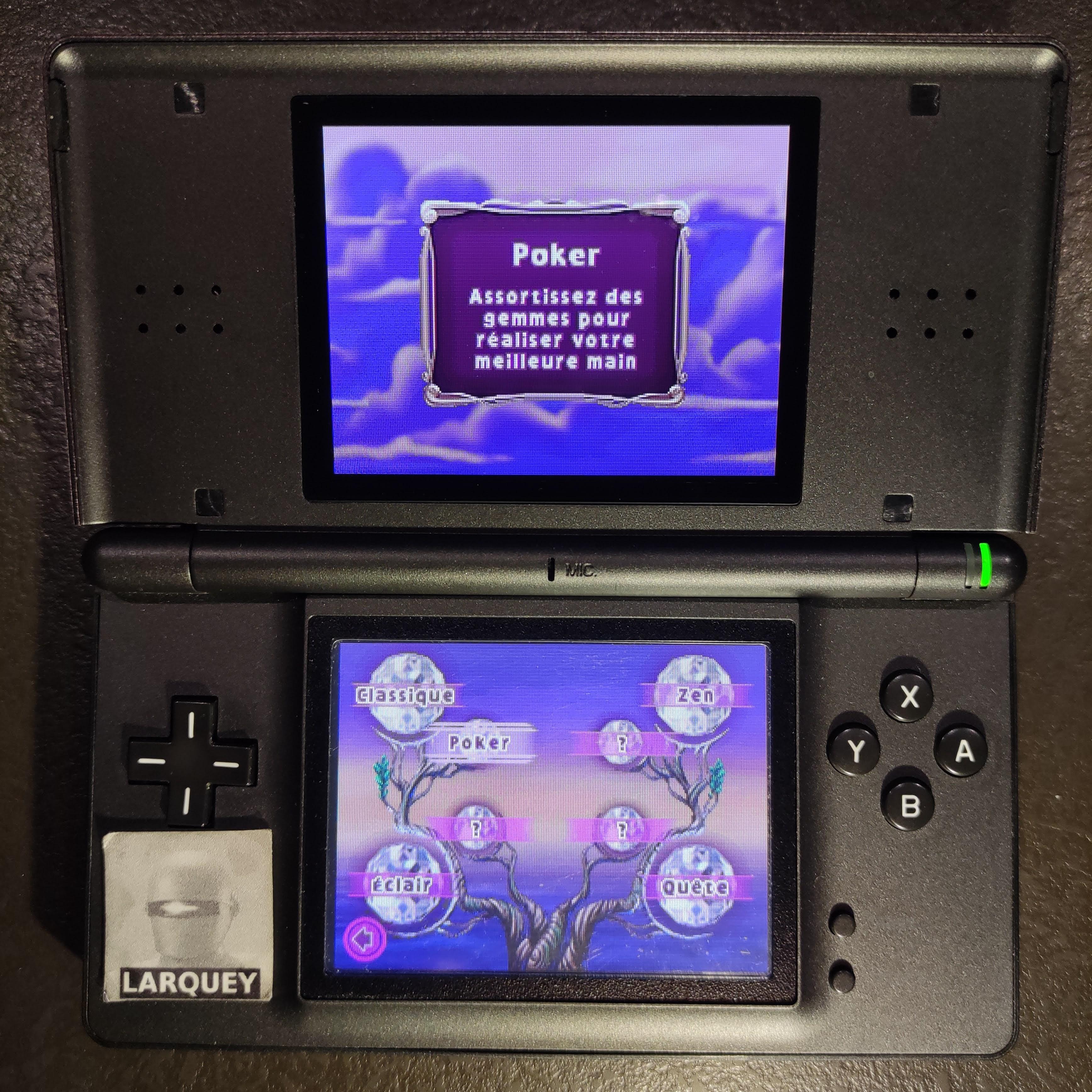 Larquey: Bejeweled 3: Poker [Number of Flush] (Nintendo DS) 0 points on 2020-09-26 04:28:01