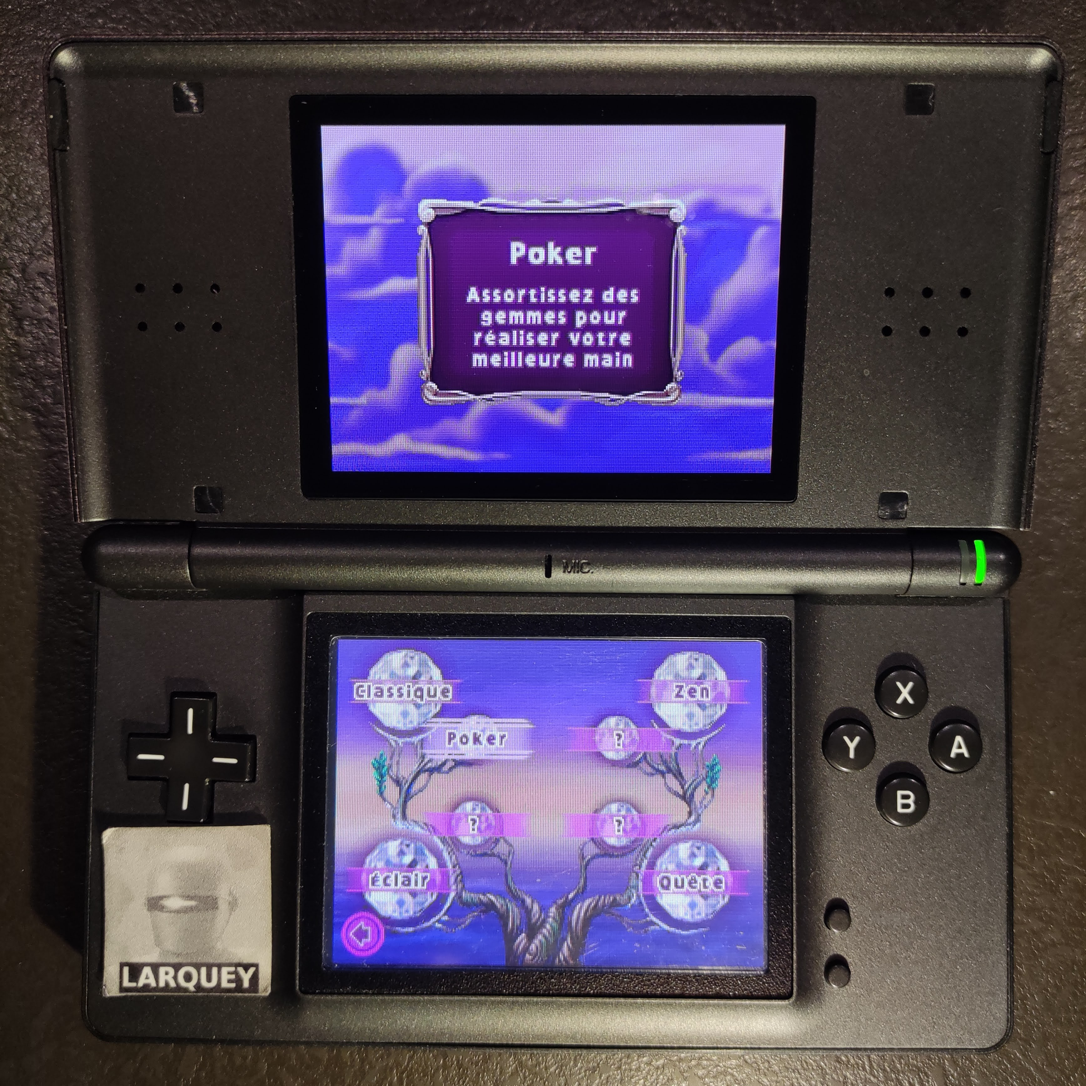 Larquey: Bejeweled 3: Poker [Number of Full House] (Nintendo DS) 1 points on 2020-09-26 04:21:57